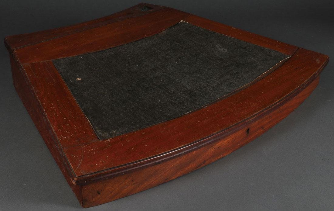 A MAHOGANY NAUTICAL DESK, 19TH CENTURY