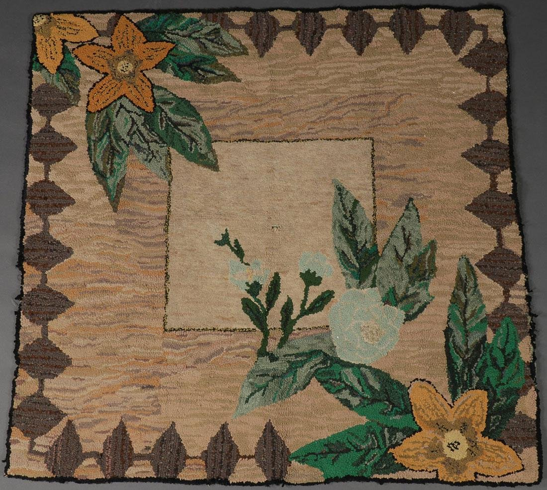 A PAIR OF AMERICAN HOOKED RUGS