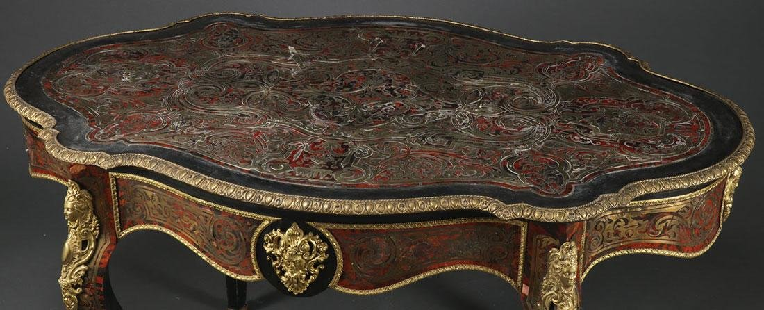 A FRENCH LOUIS XVI STYLE BOULLE BUREAU, 20TH C. - 2