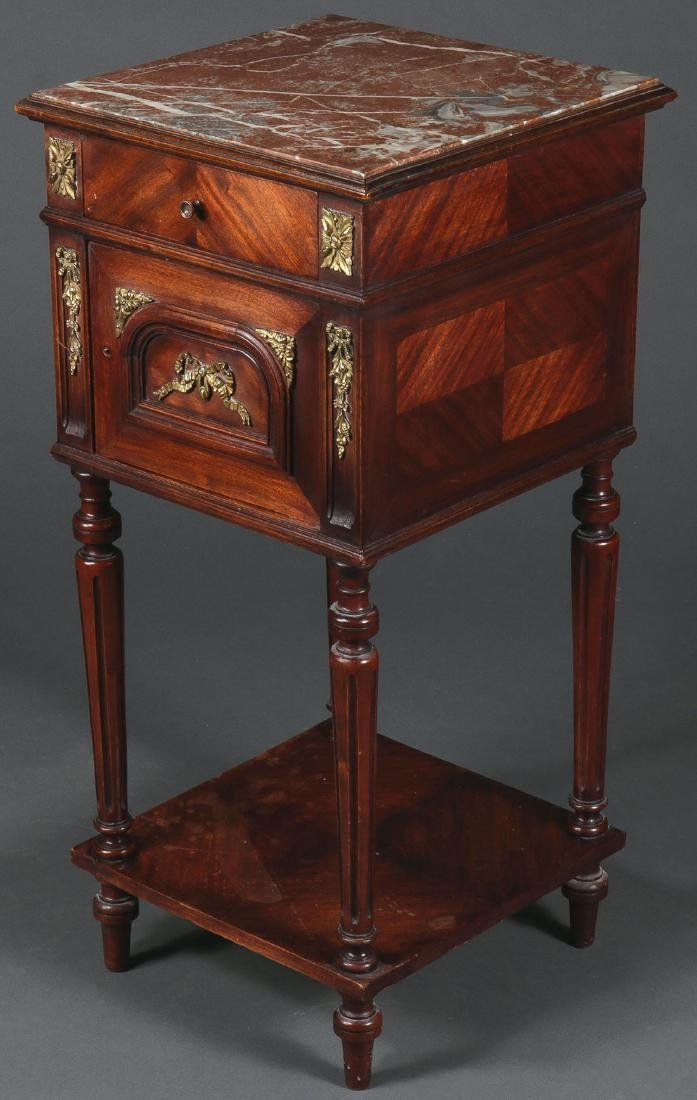 A FRENCH EMPIRE REVIVAL NIGHT STAND