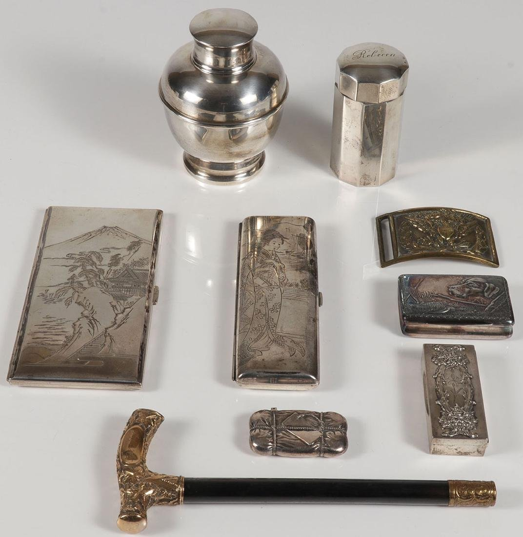 A GROUP OF SILVER AND OTHER SMALLS MOSTLY 19TH C.