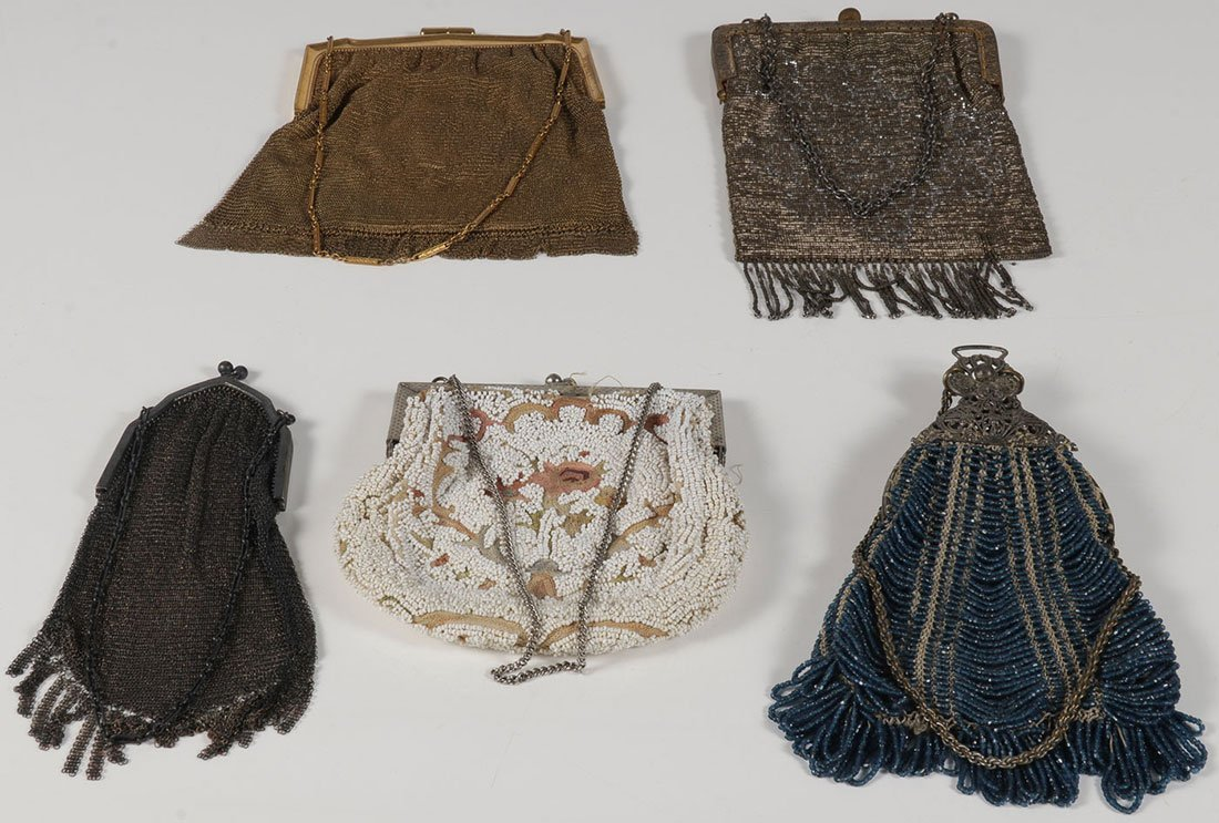 A GROUP OF FOUR FLAPPER ERA EVENING BAGS