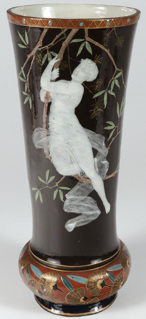 A LARGE AND IMPRESSIVE PATE-SUR-PATE VASE 19TH C.