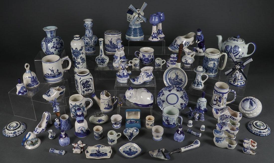 A SEVENTY PIECE GROUP OF DELFTWARE