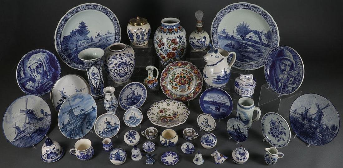 A FORTY-FIVE PIECE GROUP OF DELFTWARE