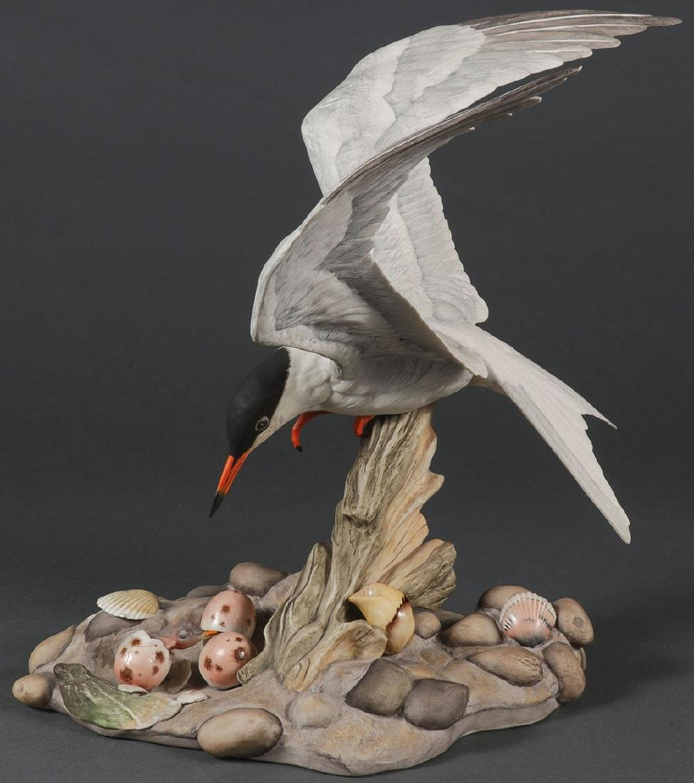 A LARGE AND IMPRESSIVE BOEHM PORCELAIN TERN