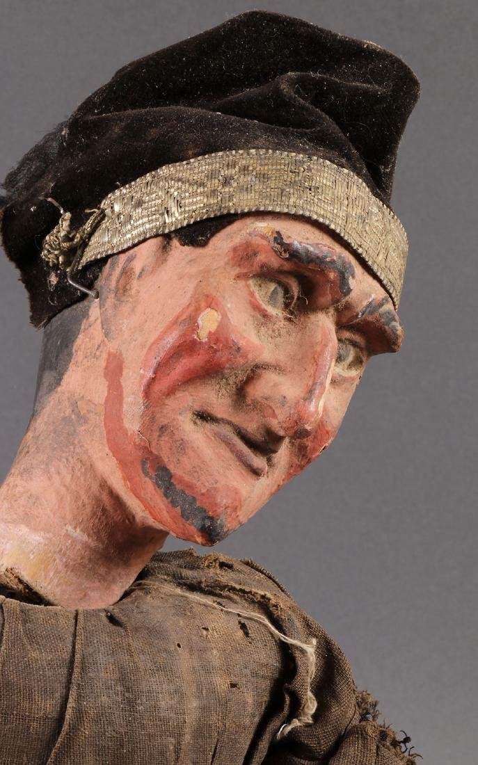 A PAIR OF CARVED POLYCHROME MARIONETTES, EUROPEAN - 8