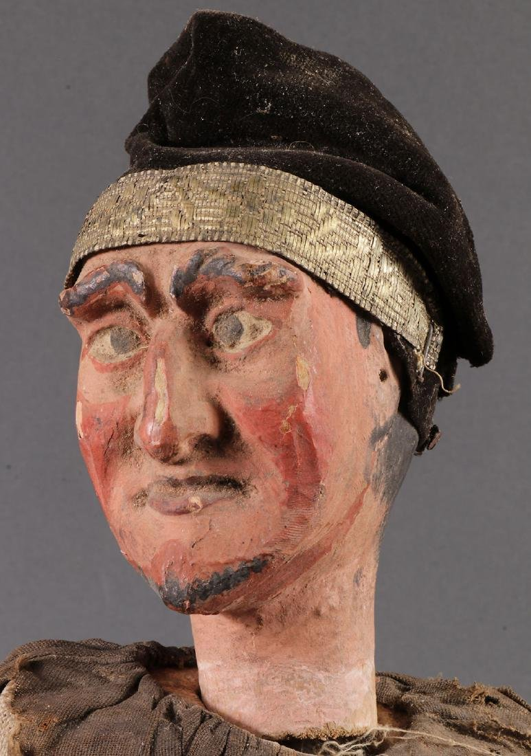 A PAIR OF CARVED POLYCHROME MARIONETTES, EUROPEAN - 9