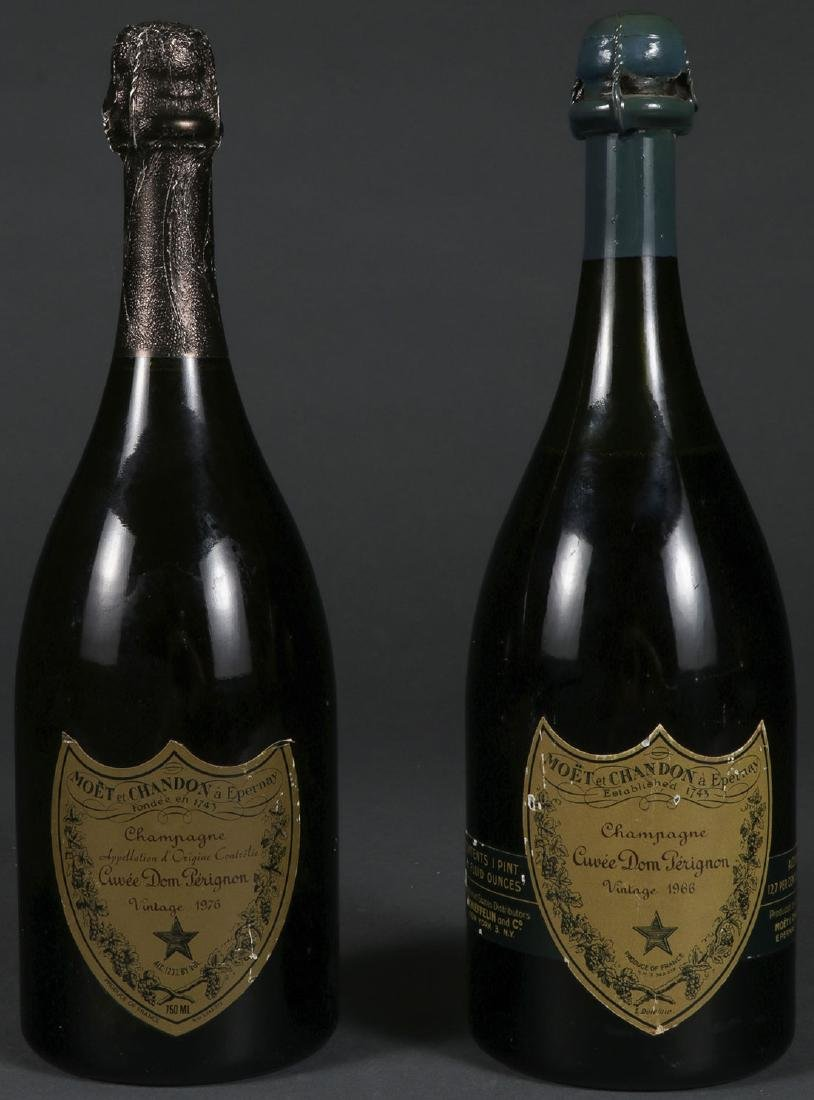 2 BOTTLES OF DOM PERIGNON CHAMPAGNE, 1966