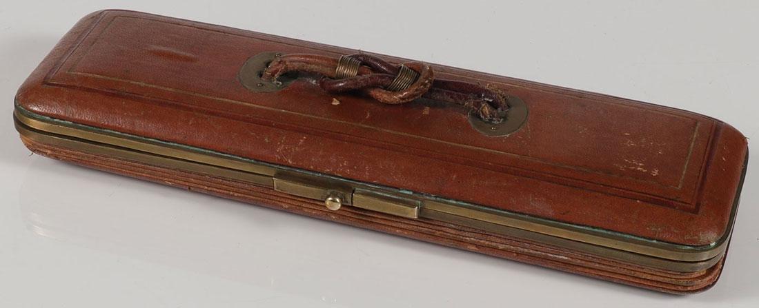 AN INTERESTING CASED GLOVE STRETCHER 19TH CENTURY