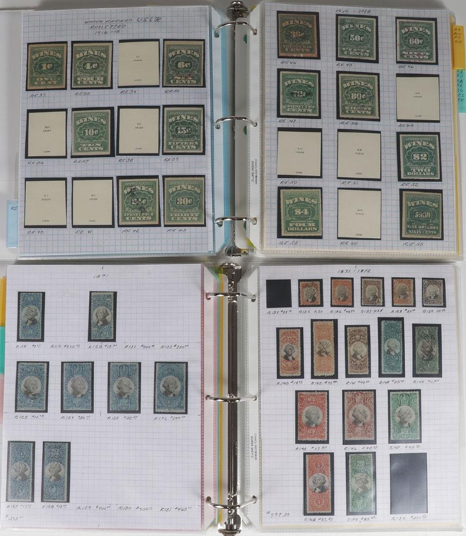 A LARGE AND FINE COLLECTION OF US REVENUE STAMPS