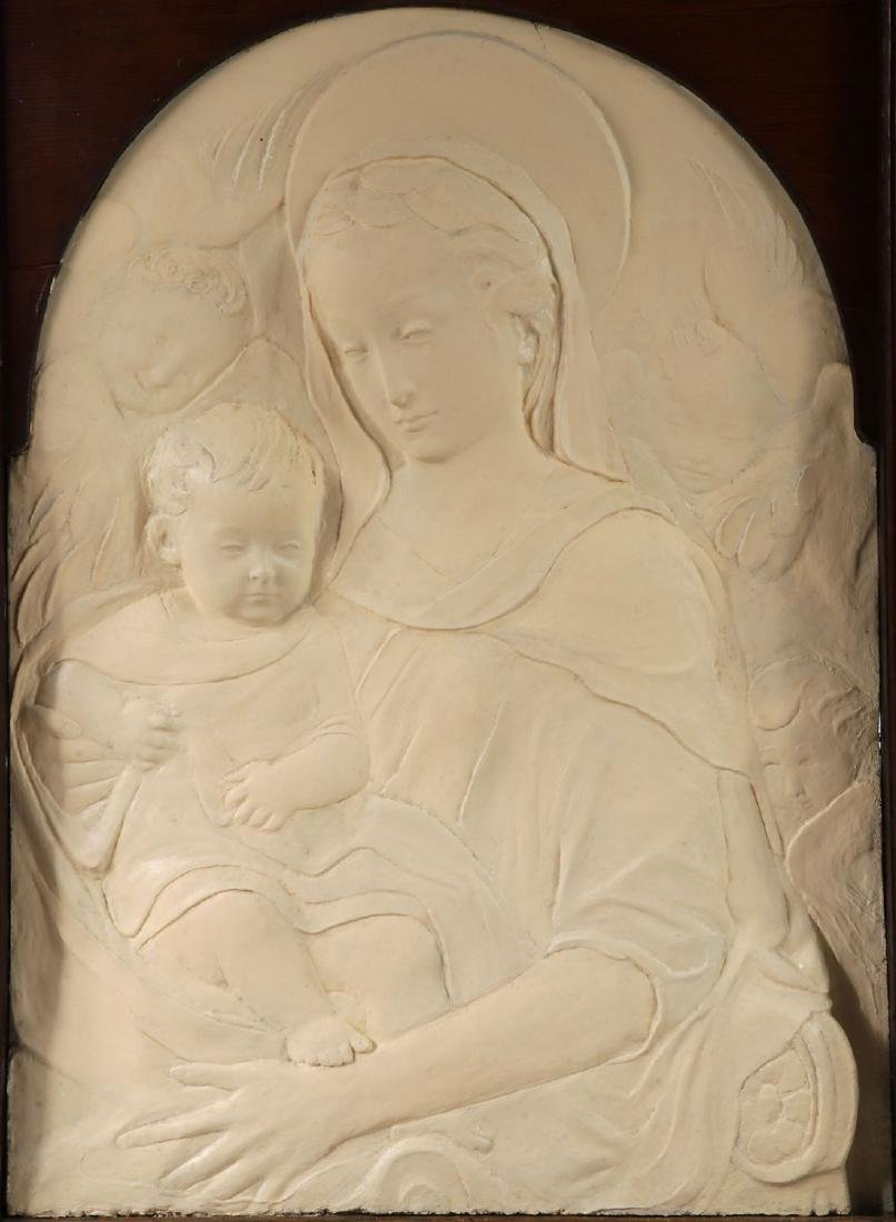 IMPRESSIVE MADONNA AND CHILD TRIPTYCH, 19TH/20TH C.