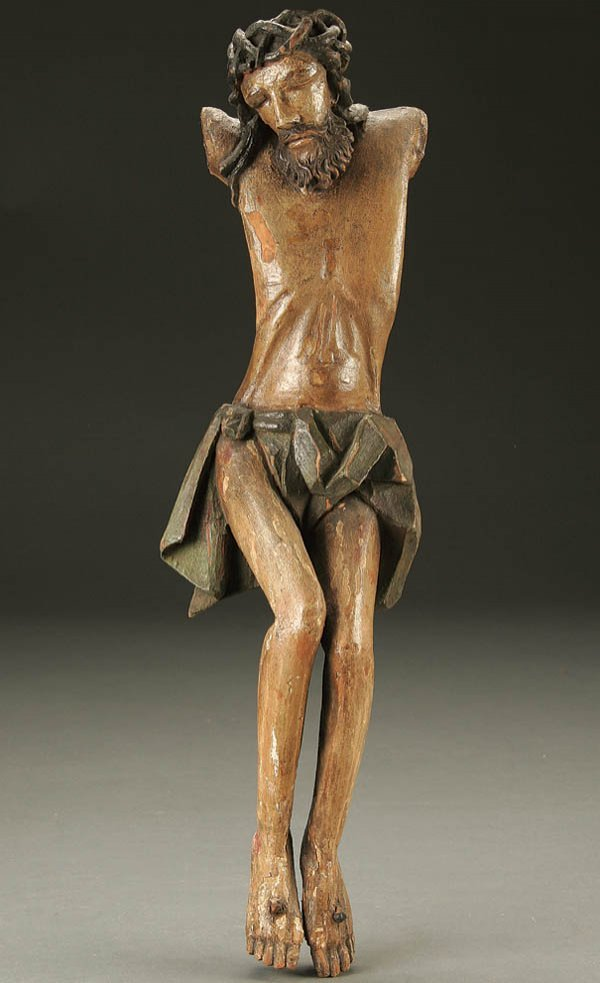 683: CORPUS CHRISTI; a carved and polychromed wood fig