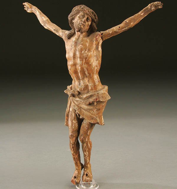 686: CORPUS CHRISTI; a very fine carved and polychrome