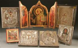 728 RUSSIAN  GREEK ICONS circa 1900 to 1990 Includ