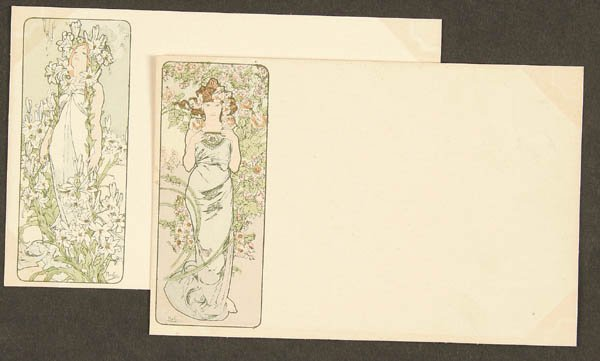 14: 12 ALPHONSE MUCHA 1897 POSTCARDS collectors serie