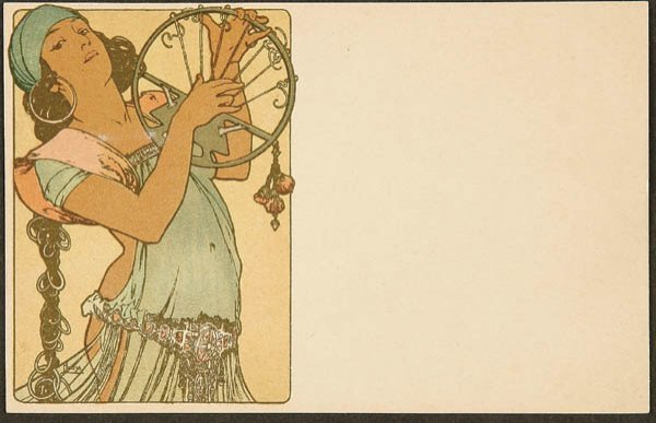 "22: ALPHONSE MUCHA ""SALOME"" POSTCARD from the 3rd ser"