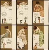"101: 6 RAPHAEL KIRCHNER POSTCARDS ""Marionettes"" comple"