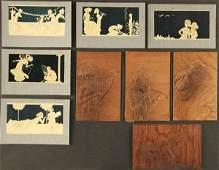 201: 9 RAPHAEL KIRCHNER POSTCARDS set of sculptured iv