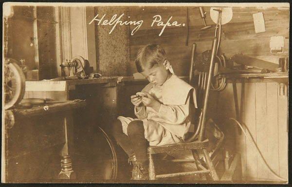 1502: A REAL PHOTO POSTCARD, making false teeth