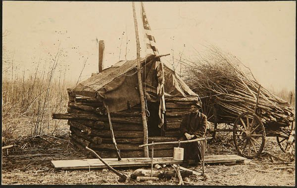 1509: A REAL PHOTO  by E. Grossdehme, Brownsville cabin