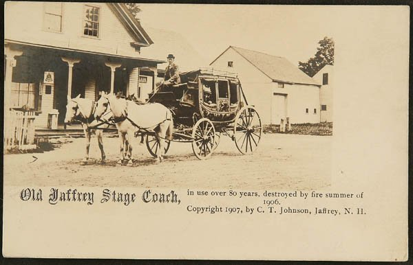 1512: RPPC   Old Jaffrey Stage Coach New Hampshire