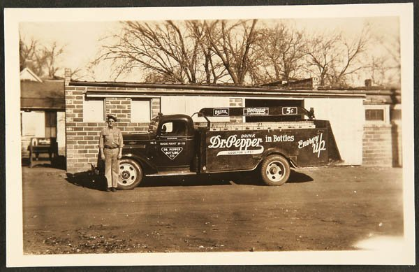 1521: RPPC 1930s Kansas Dr. Pepper delivery truck