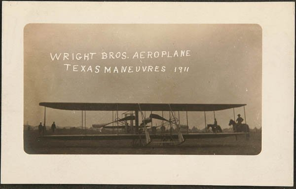 1522: RPPC  Wright Brothers 1911 Aeroplane Texas