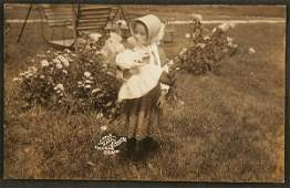 1657 RPPC  Shaker girl doll enfield CT