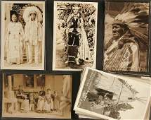 1845: Native American Indian photo postcards