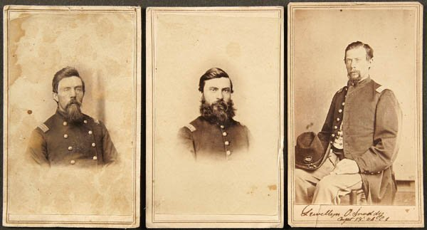 1914: CIVIL WAR CDV'S U.S. Colored Troop officers, a gr