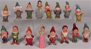 A GROUP OF DISNEY SNOW WHITE FIGURAL ITEMS