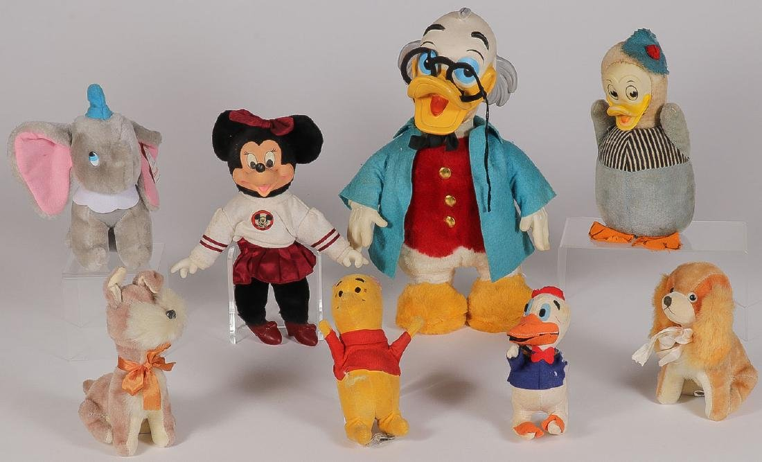 EIGHT DISNEY FIGURES