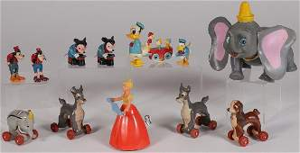 AN INTERESTING GROUP OF 13 PLASTIC DISNEY TOYS