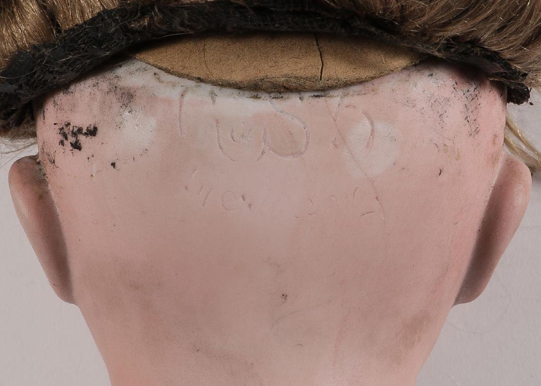 FIVE BISQUE DOLL HEADS - 4