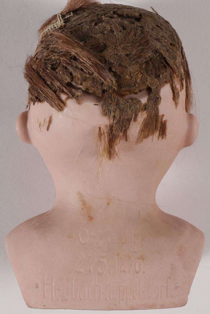 FIVE BISQUE DOLL HEADS - 6