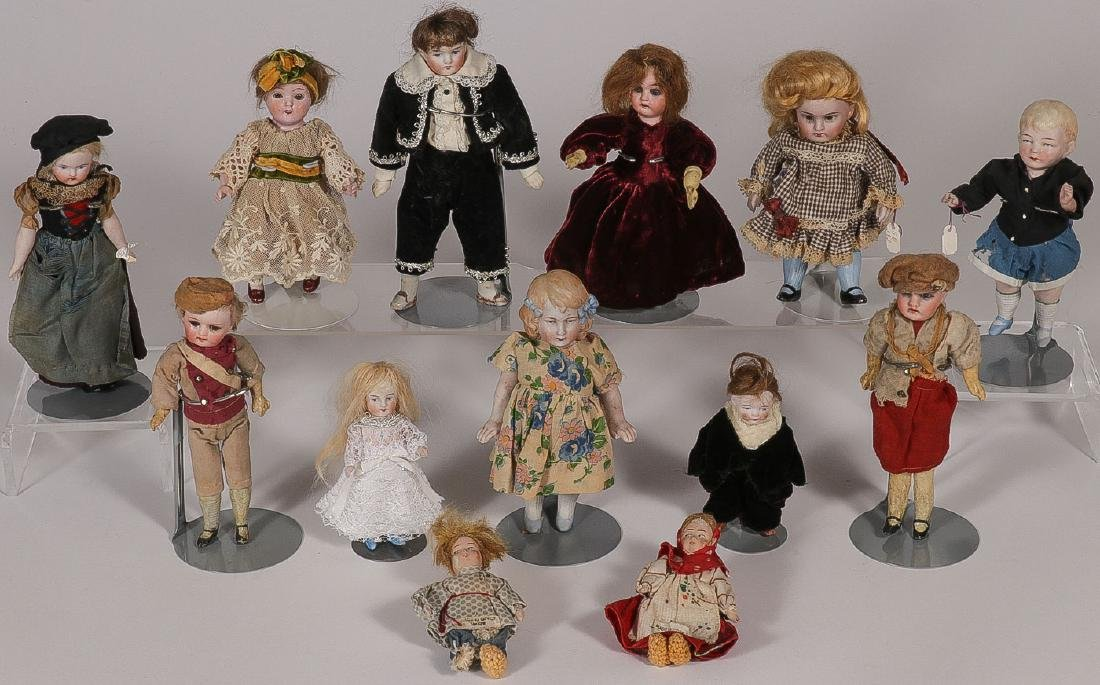 13 ANTIQUE DOLLS