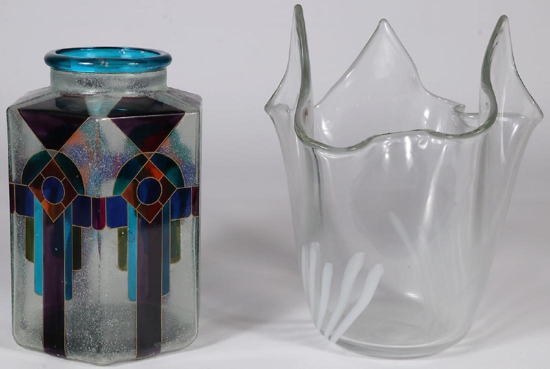 TWO ITALIAN ART GLASS VASES
