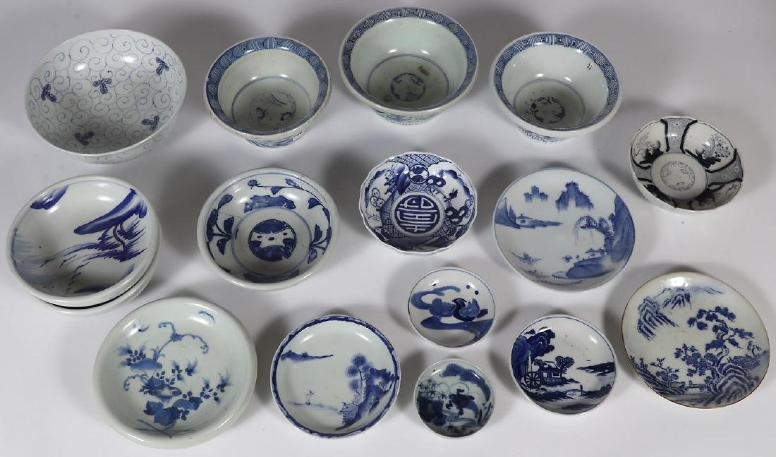 17 PIECES OF JAPANESE IMARI PORCELAIN, EDO-MEIJI