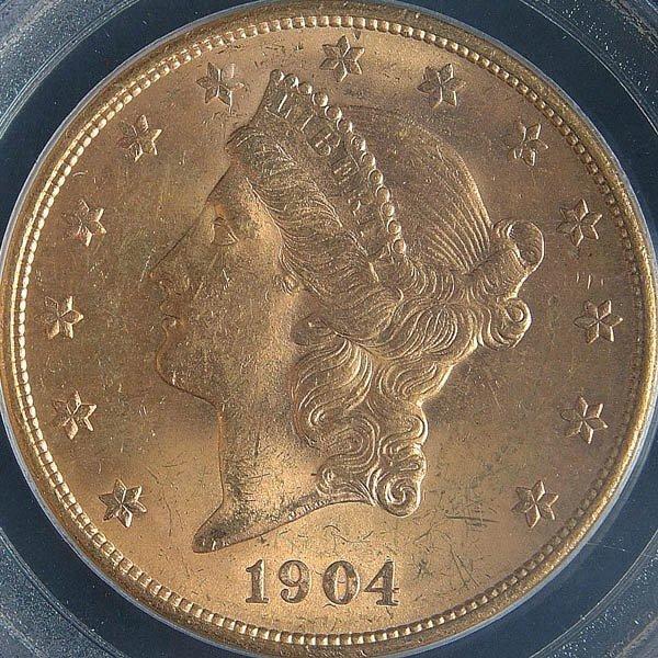 3: A U.S. GOLD DOUBLE EAGLE 1904-S graded PCGS MS 63