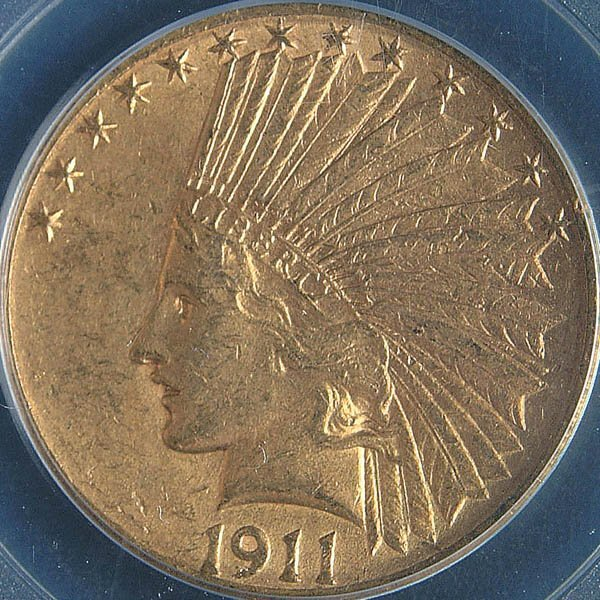 16: TWO U.S. GOLD EAGLES, 1909-D PCGS MS61 and 1911-D