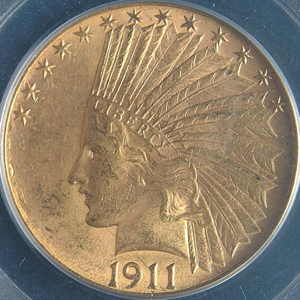 17: TWO U.S. GOLD EAGLES, 1911 and 1912, both PCGS MS
