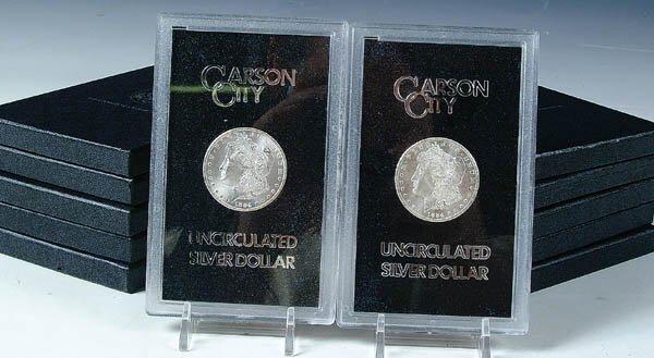 86: TEN GSA 1884-CC MORGAN DOLLARS. Estimate $1,200-$