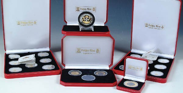 """378: A HOARD OF GIBRALTAR PROOF ISSUES.  1997 """"Wonders"""