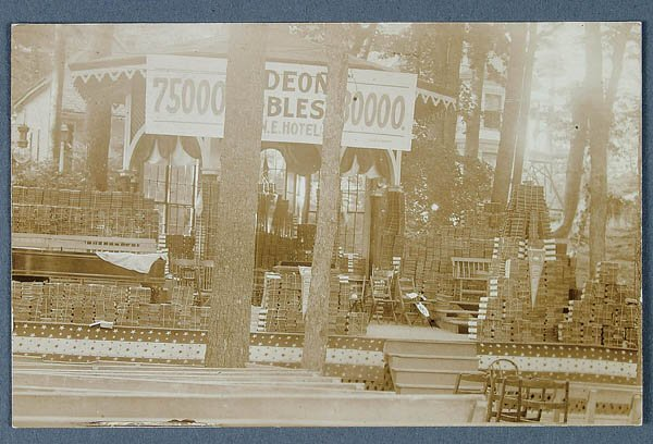 608: A REAL PHOTO GIDEON BIBLE POSTCARD depicting 75,0