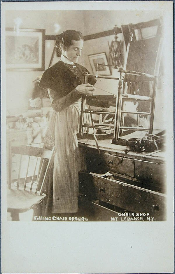 609: A RARE REAL PHOTO SHAKER OCCUPATIONAL POSTCARD of