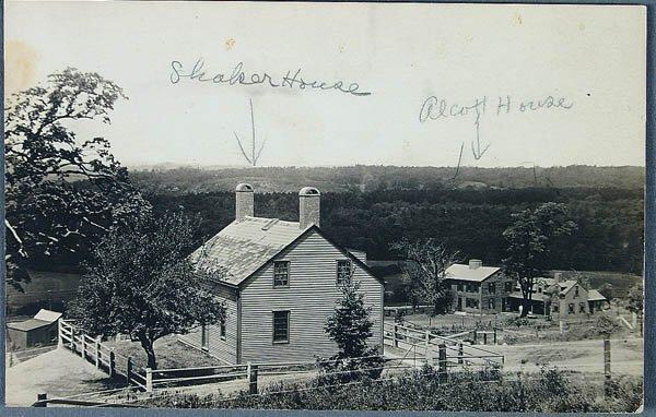 613: A REAL PHOTO SHAKER POSTCARD OF a Shaker House. V
