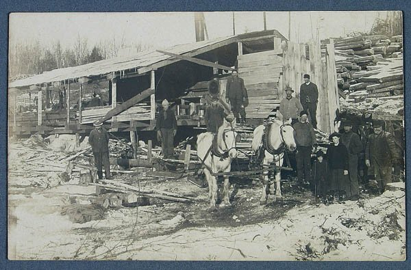 620: A REAL PHOTO OCCUPATIONAL POSTCARD of a sawmill.