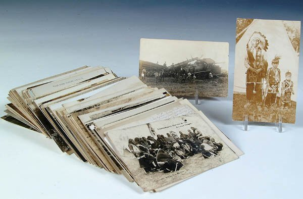 920: APPROX. 230 REAL PHOTO POSTCARDS.  Wide variety o