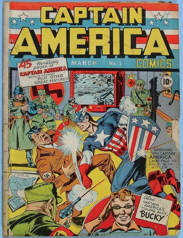 1157: CAPTAIN AMERICA COMIC BOOK #1, 1940. First appear